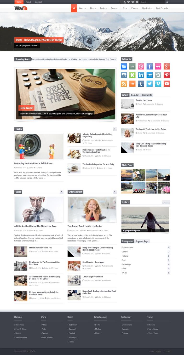 Warta WordPress Theme
