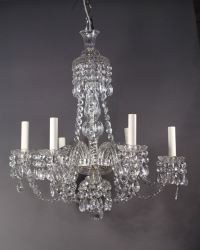 Antique English crystal chandelier with 6 branches | Fritz ...