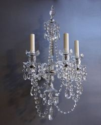 Pair of antique crystal wall sconces | Fritz Fryer