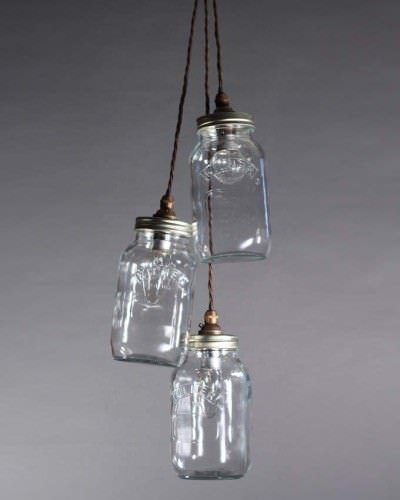 Height Of Lights Above Kitchen Island Upcycled Mason Jar Pendant Ceiling Lights, Vintage Retro
