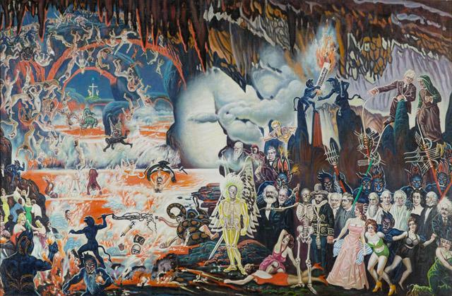 Apocalyptic Scene with Philosophers and Historical Figures by McKendree Robbins Long, c. 1959 (North Carolina Museum of Art)