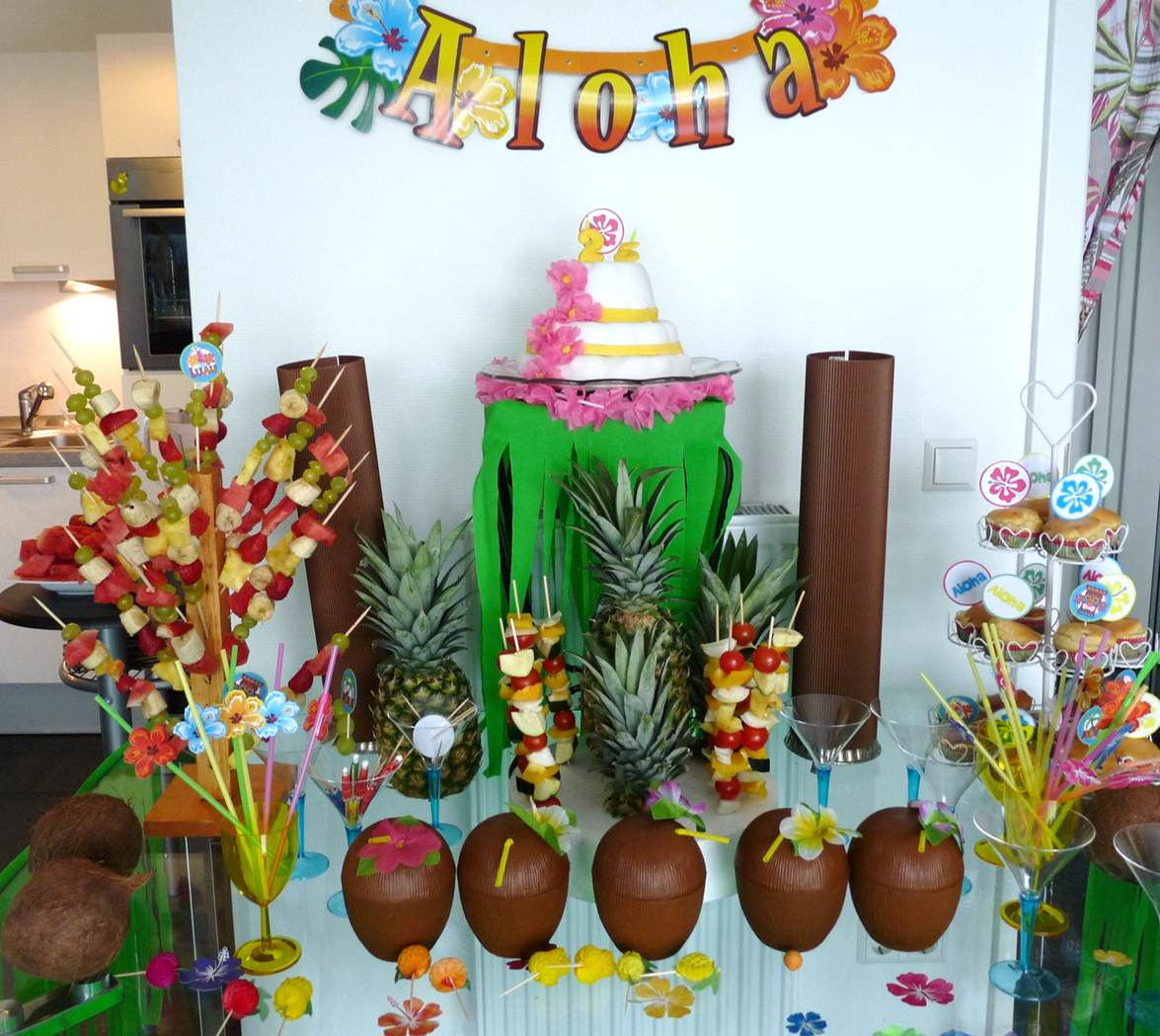 Decoration Anniversaire Hawaii 25th Birthday Hawaii Party The Party Ville Party Planner