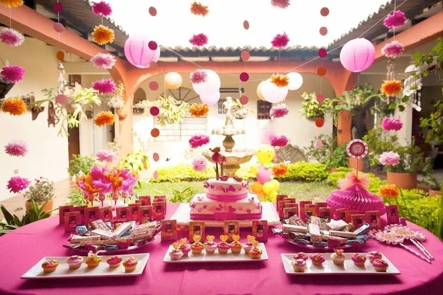 A Birthday in the Garden Hot Pink and Orange for an Outrageous - party planning