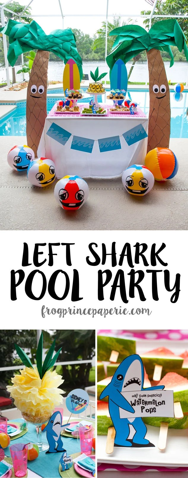 Lovable Getting Ready Need Some Howabout A Few Left Shark Party Ideas On A Budget Frog Prince Paperie Party Ideas Birthday Party Ideas 14 Year S Summer Parties ideas Pool Party Ideas