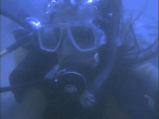 women underwater trapped