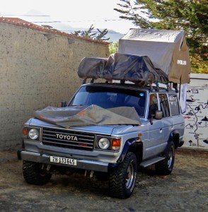Swiss Toyota Landcruiser with rooftop tent
