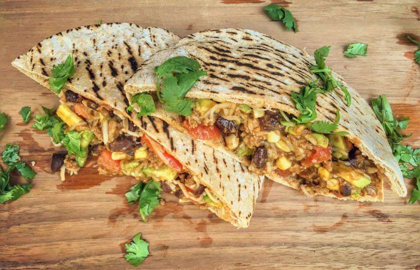 Wild Turkey Black bean & Corn pitas