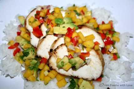 Margarita Chicken with Mango & Avocado Salsa
