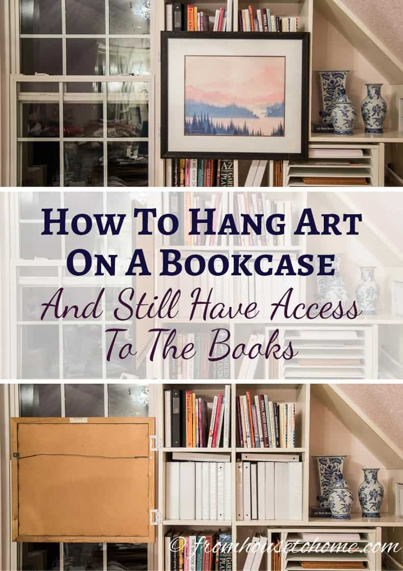 Garage Am Hang How To Hang Art On A Bookcase (and Still Have Easy Access