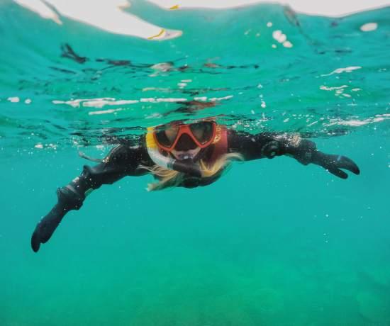 Snorkeling in Kleifarvatn Iceland
