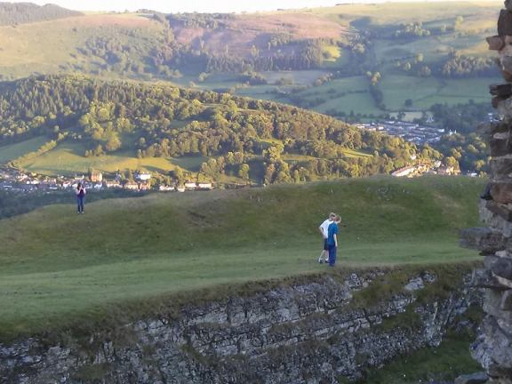 View of Llangollen from castle ruins above