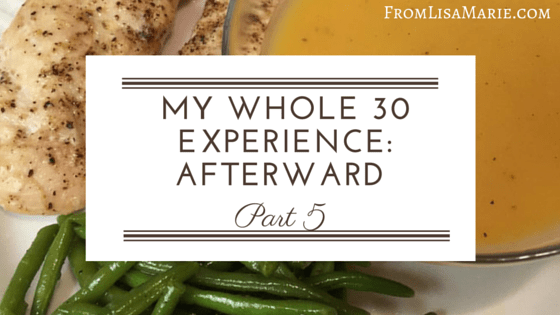 whole 30 experience