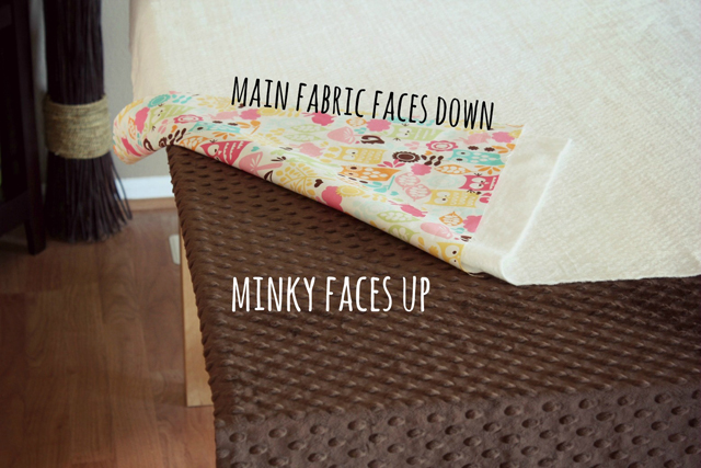 Minky Blanket Tutorial from Marta with Love 4 Minky Blanket Tutorial
