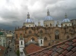 View from hotel El Monasterio in Cuenca, Ecuador