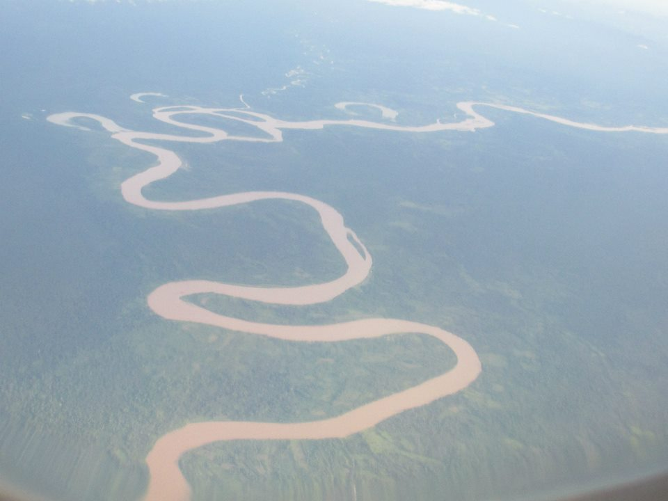 The mighty Amazon from above.