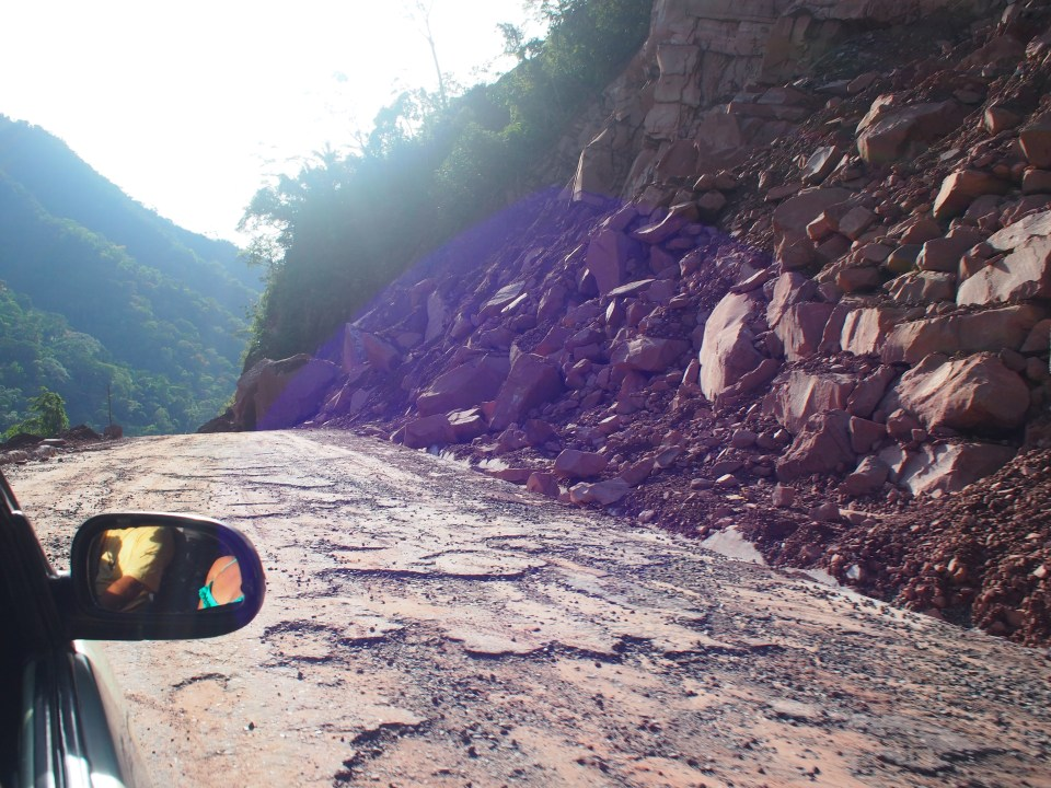 The final journey between Chazuta and Tarapoto...with a few fresh rock slides to keep things interesting.