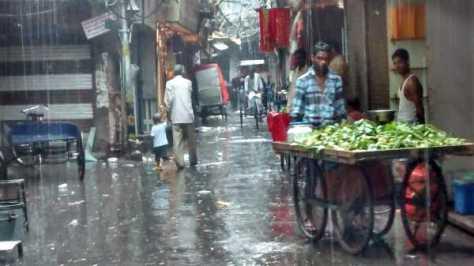 A soggy trip through a soggy market