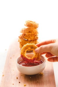 Healthy Vegan Onion Rings (Fat Free!) - From My Bowl