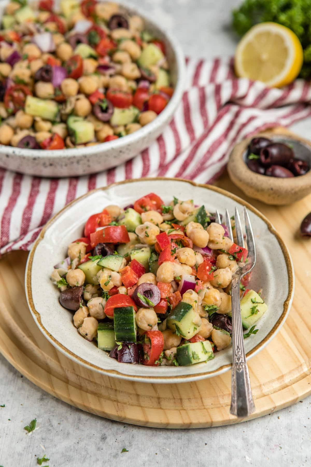 Mediterrane Küche An Bord Mediterranean Chickpea Salad 10 Ingredients From My Bowl