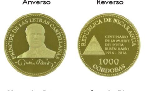 Nicaragua emite monedas de C$1,000 córdobas