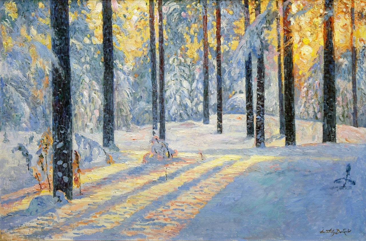 Fall Cabin The Woods Wallpaper Sunrise In The Winter Forest From Russia With Art