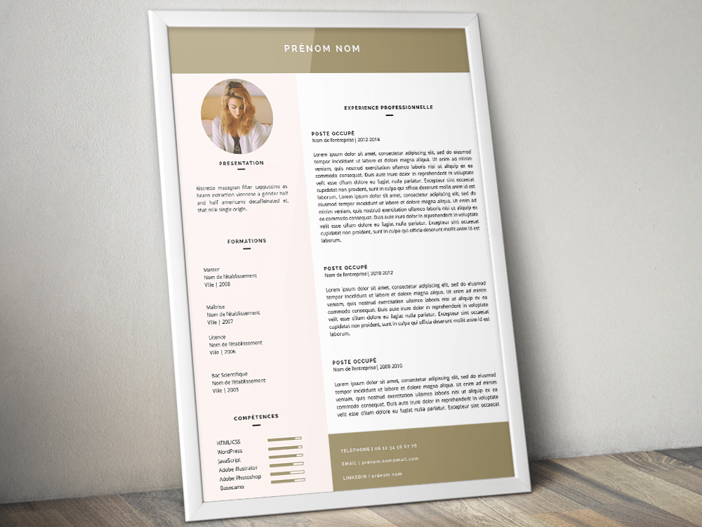 Cv template word gratuit sample good resumes template cv template word gratuit cv template collection 116 free templates in microsoft cv template yelopaper Image collections
