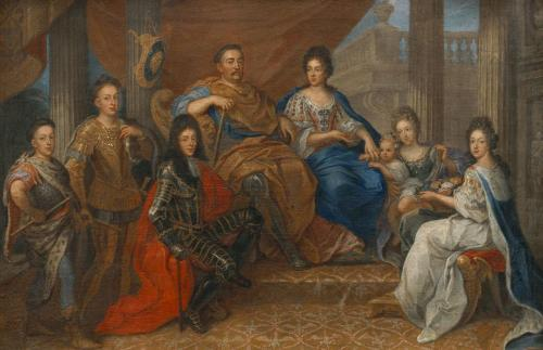 亨利·加斯卡(Henri Gascar_John_III_Sobieski_with_his_family_1693)
