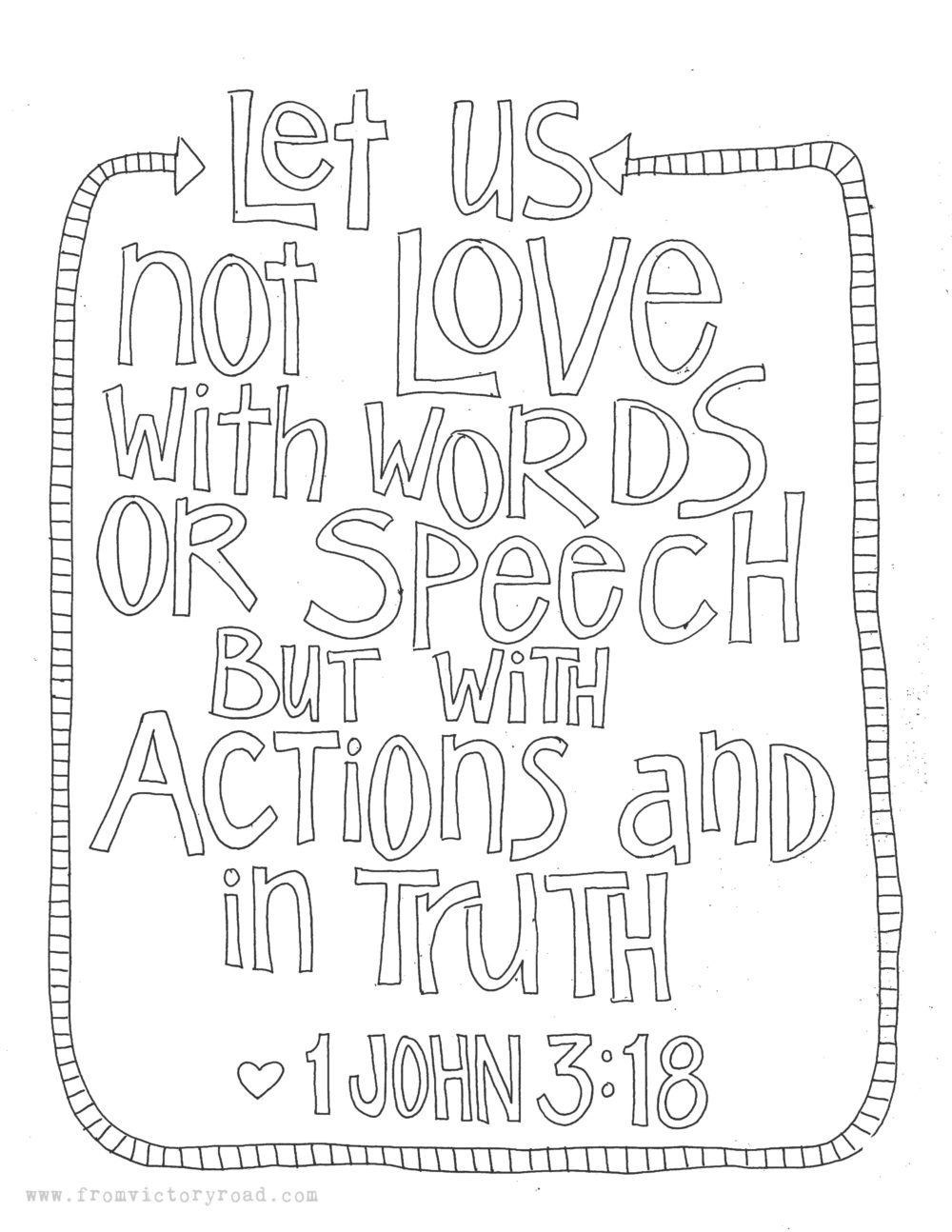 1 John 3 18 Coloring Page Coloring Pages