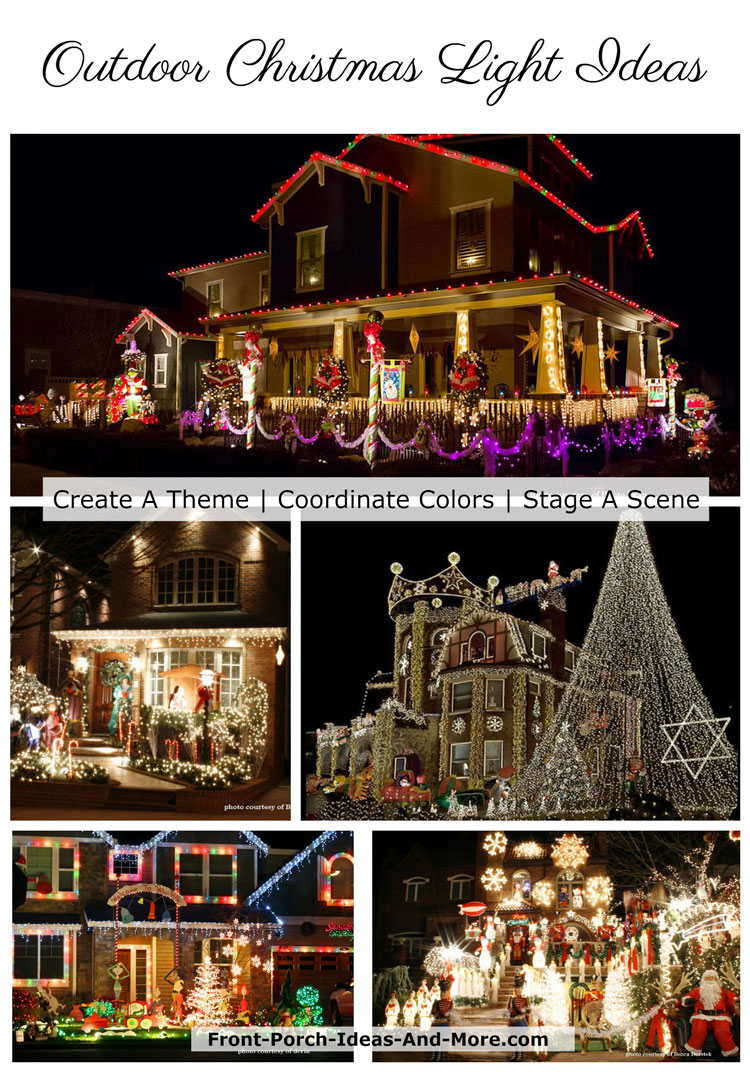 Outdoor Light Ideas Christmas Lighted Outdoor Christmas Decorations And Ideas