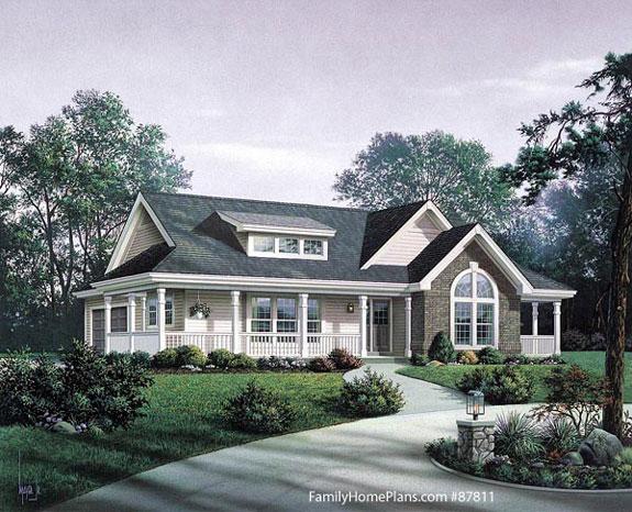 home front porch ideas rambler key land homes oakmont plan wainsford rambler home plan