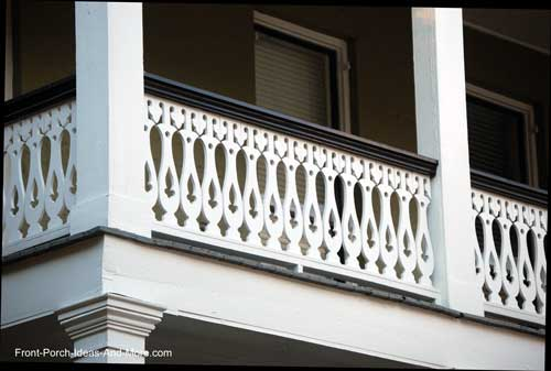 Front Porch Railing Sawn Balusters | Porch Railings | Wood Deck Railings