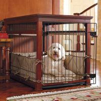 Luxury Mahogany Pet Residence Dog Crate | Frontgate