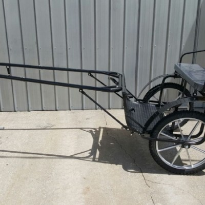 Horse HD easy entry cart w brakes