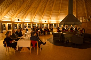 """Dinner at """"Laksestua"""" Restaurant with King Harald of Norway"""