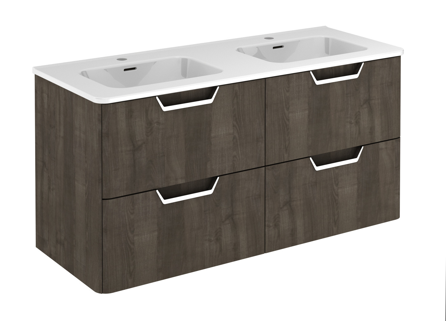 1200mm Vanity Units Life 1200mm Double Basin Wall Hung Vanity Unit Samara