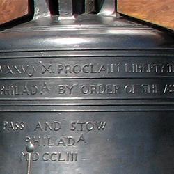 Liberty inscription