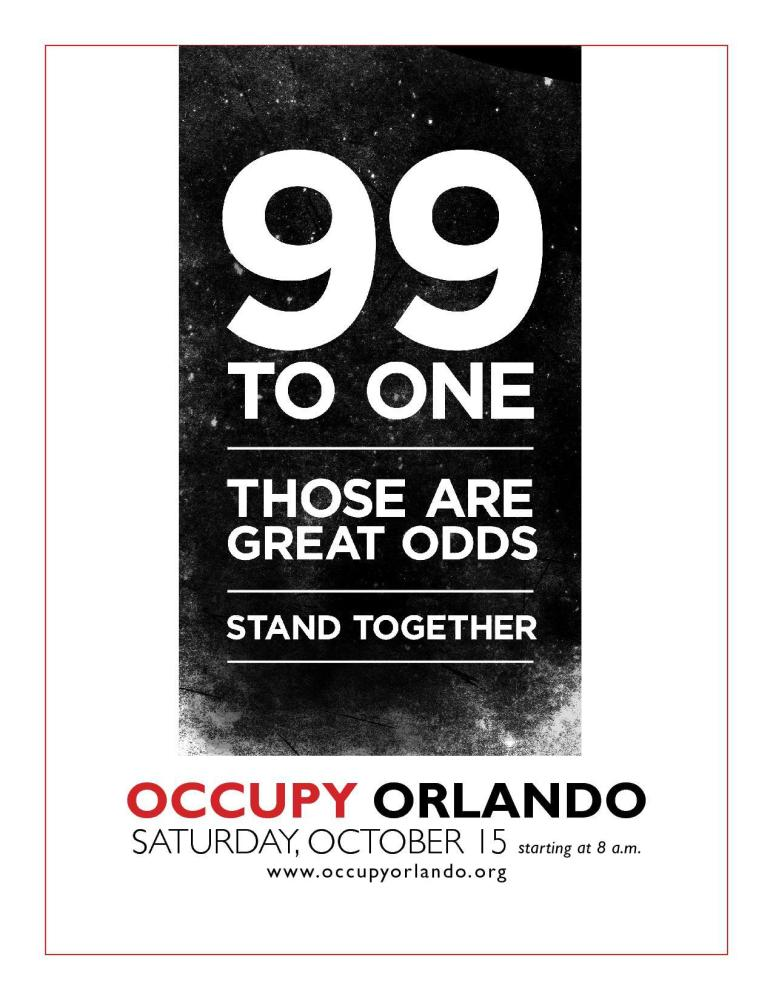 Occupy Wall Street inspires Occupy Orlando on October 15th
