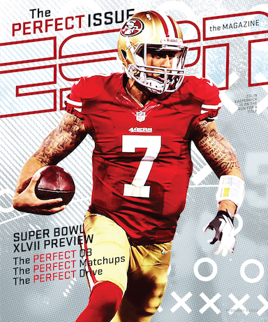 San Francisco 49ers quarterback Colin Kaepernick featured on the cover of The Perfect Issue.