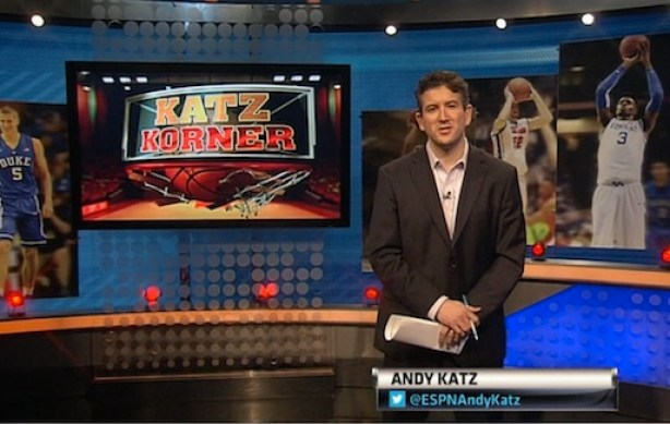 ESPN's Andy Katz on the set of Katz Korner. (ESPN)