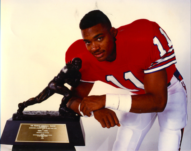 After signing at Houston in 1987, Andre Ware -- now an ESPN analyst -- eventually the Heisman Trophy. (Credit: University of Houston Athletics)