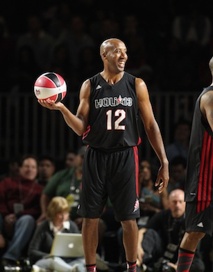 ESPN's Bruce Bowen during the Sprint NBA All-Star Celebrity Game. (Travis Bell/ESPN Images)