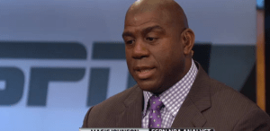 Magic Johnson on Kia NBA Countdown earlier tonight