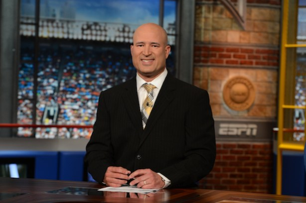 ESPN's Manny Acta on the set of Baseball Tonight. (Joe Faraoni/ESPN Images)