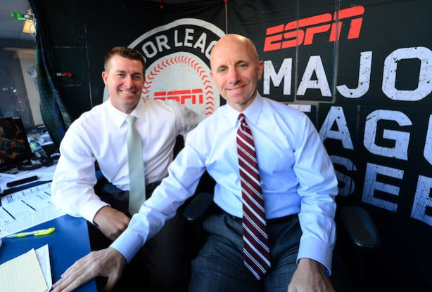 ESPN MLB commentators Mark Mulder and Sean McDonough.  (Phil Ellsworth / ESPN Images)