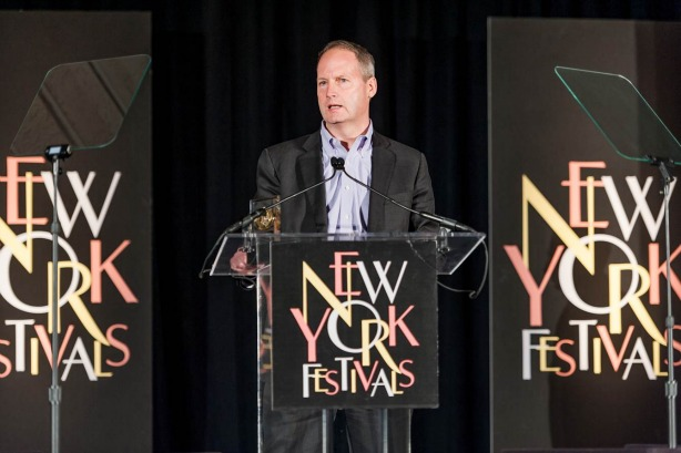 Craig Bengtson, vice president, SportsCenter, accepted awards won by the show and the Features Unit at the 2013 New York Festivals International Film and TV Awards on Tuesday in Las Vegas.