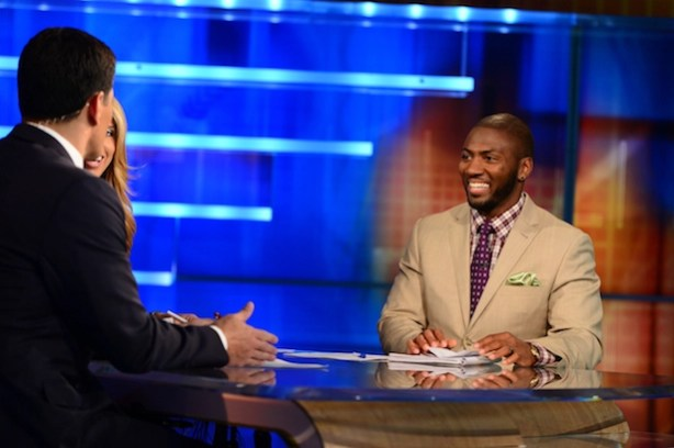 Ryan Clark on the set of NFL Live (Joe Faraoni / ESPN Images)