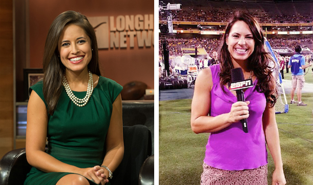 Kaylee Hartung (L) and Jessica (Photo credit: (L) Scott Clarke / ESPN Images, (R) )