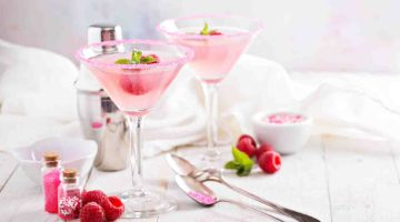 Happy Galentines Day Raspberry Crush Martini Recipe Valentines Day Cocktail Drinks and Party Ideas