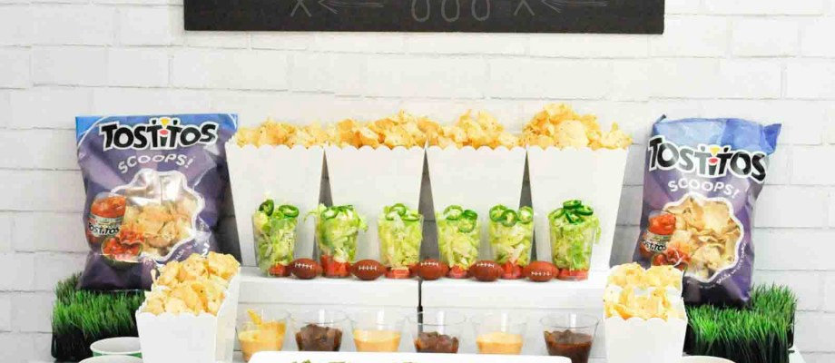 Football Party Ideas! Super Nacho Bowl Bar