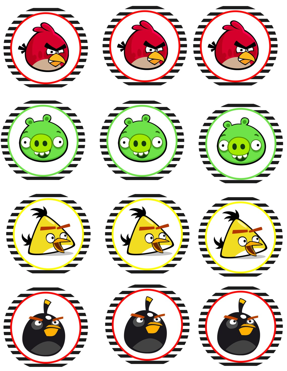 It's just a picture of Crafty Angry Birds Printables